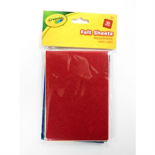 Crayola Felt Sheets 10pk