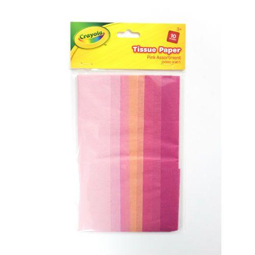 Crayola Pink Tissue Paper 10pk