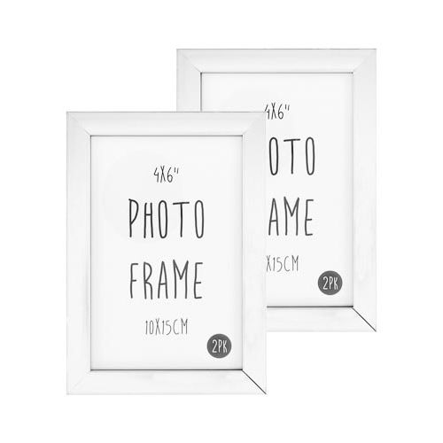 Photo Frame 6x4 White 2 Pack