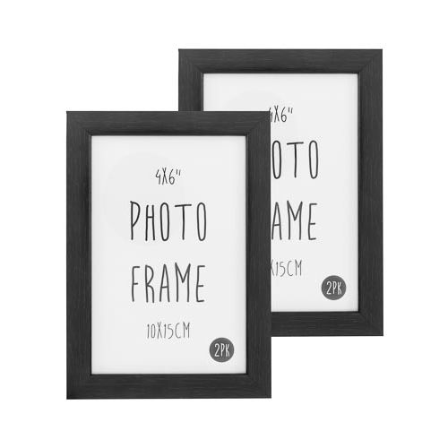 Photo Frame 6x4 Black 2 Pack
