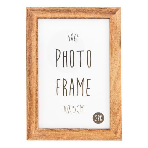 """Photo Frame 6x4"""" Oak 2pk"""