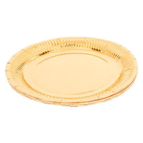 Metallic Foil Plates 16pk