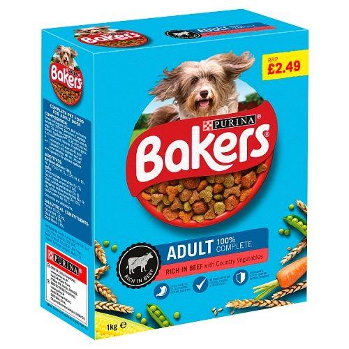 Bakers Adult Dry Beef & Vegetables 1kg