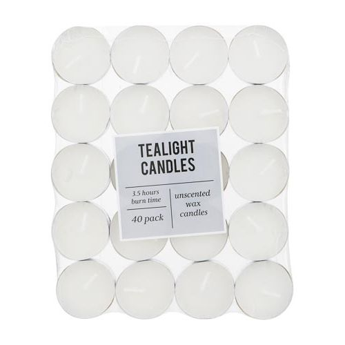 Unscented Tealights 40 Pack