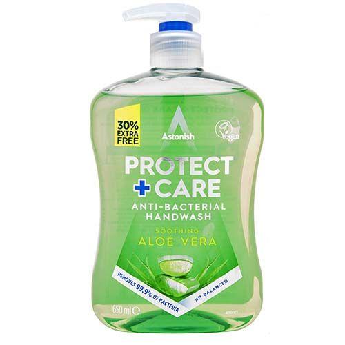 Astonish Protect+care Antibac Handwash Aloe 650ml
