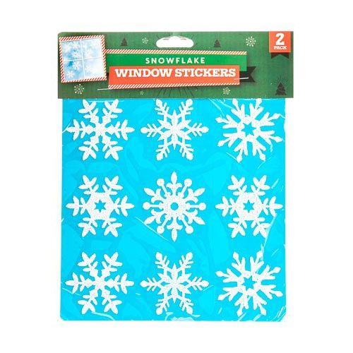 SNOWFLAKE WINDOW STICKER 2 PACK