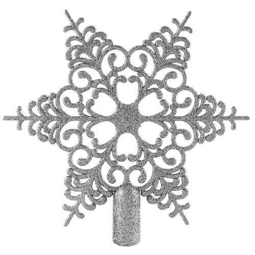 SILVER/WHITE TREE TOPPER