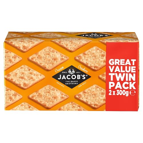 JACOBS CREAM CRACKERS TWIN PACK 2X300G