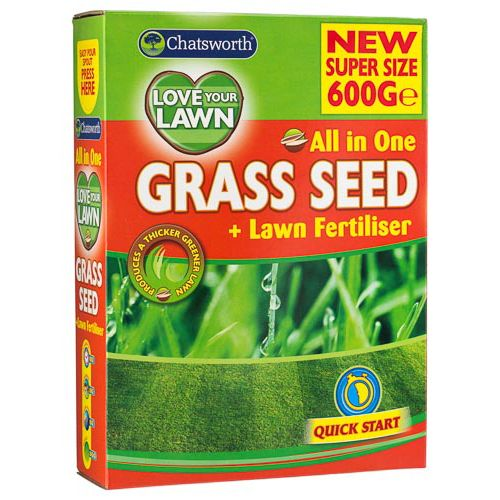 LOVE YOUR LAWN, GRASS SEED 600G