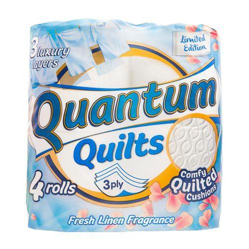 Quantum Quilts Toilet Tissue Cotton 4pk
