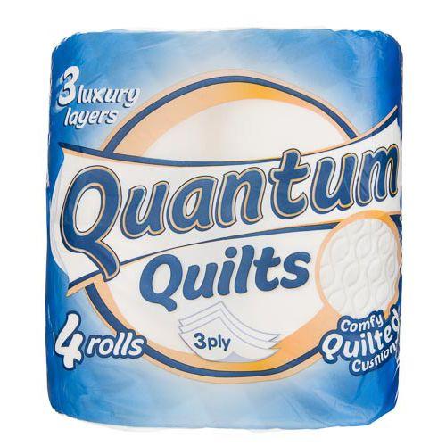 Quantum Quilts Toilet Tissue Standard 4pk