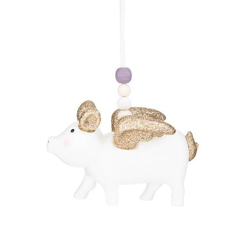 PIGLET WITH BOW TREE DECORATION
