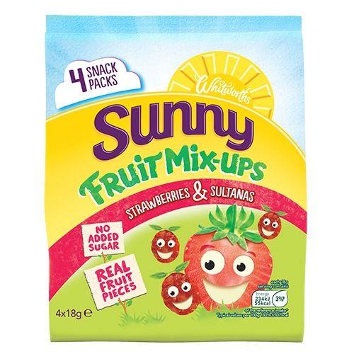 4x18g Whitworths Sunny Mix-Ups Strawb & Sultanas