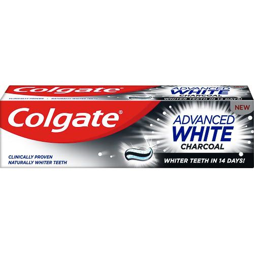 COLGATE ADVANCED WHITE TOOTHPASTE CHARCOAL 75ML