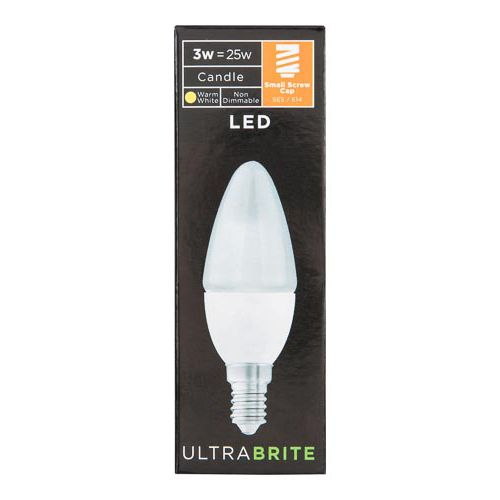 Ultrabrite 3w Led Ses Candle 1 Pack