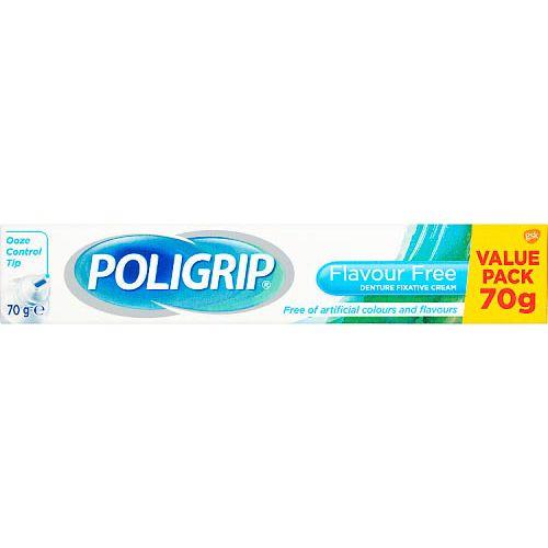 Poligrip Flavour Free Denture Fixative Cream 70g