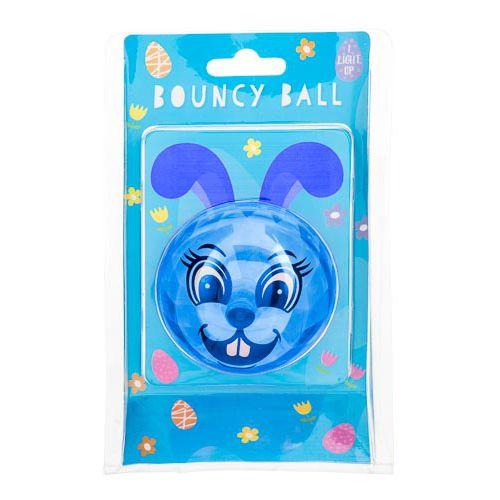Blue Light Up Bunnt Bouncing Ball