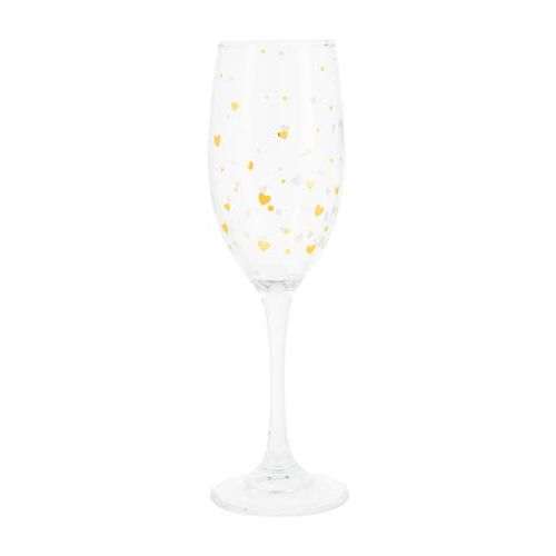 Champagne Heart Glass