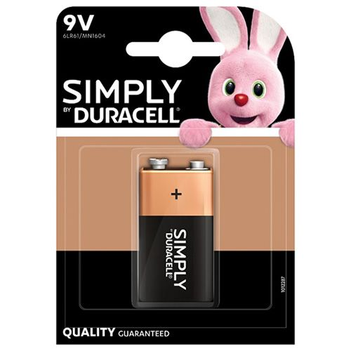 DURACELL SIMPLY 9V ALKALINE BATTERY