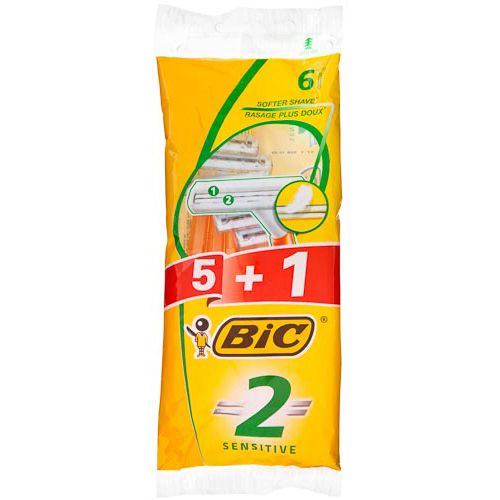 BIC 2 POUCH COMFORT 5PK + 1 EXTRA FREE