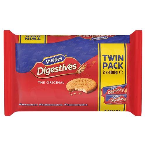 McVities Digestives Original Twin Pack 2x400g