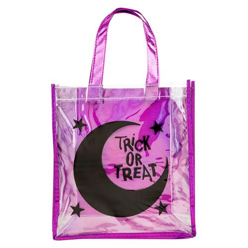 Clear Moon and Trick or Treat Print Loot Bag