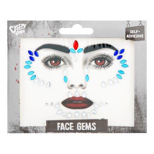 Halloween Blue Face Gems