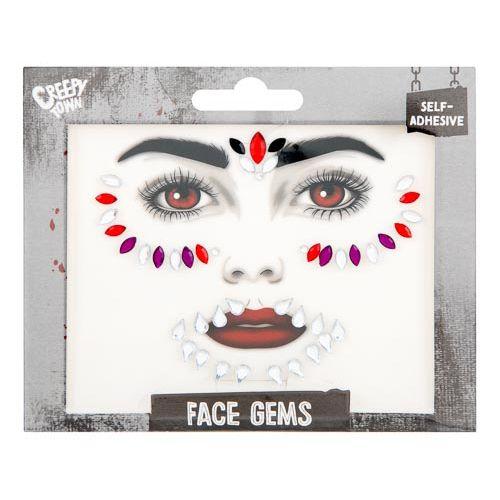 Halloween Red Face Gems