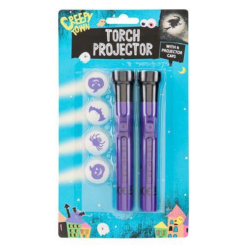 Purple Torch Mini Projector 2 Pk