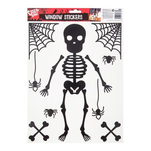 Skeleton Window Stickers