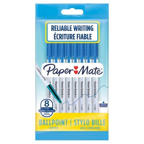 Papermate Ballpoint Pen Blue 8 Pack