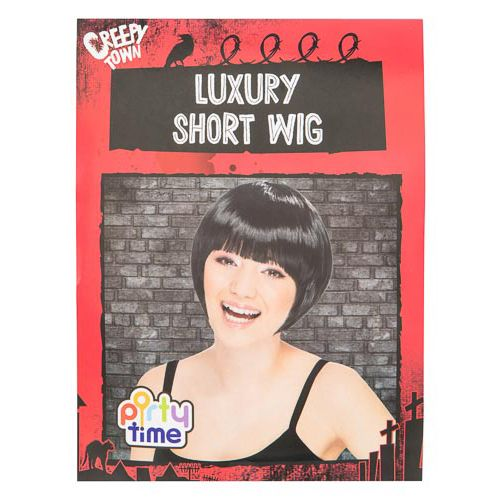 Halloween Short Black Wig