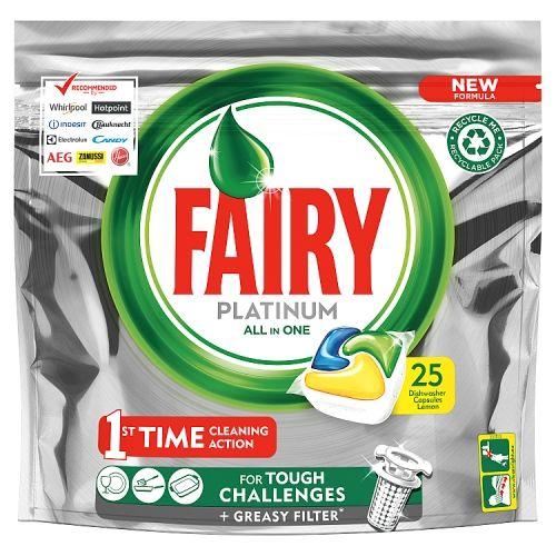 Fairy Platinum Dishwasher Tablets Lemon 25w
