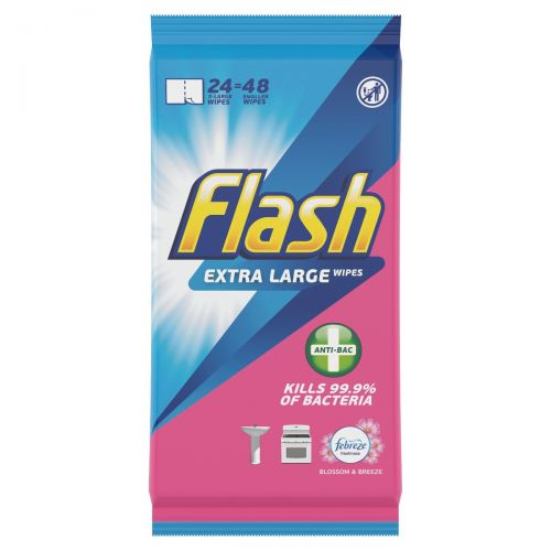 Flash Antibacterial Cleansing Wipes 48 Pack