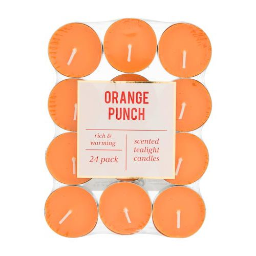 Scented Tea Lights Orange Punch 24 Pack