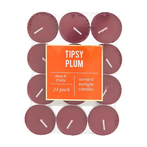 Scented Tea Lights Tipsy Plum 24 Pack