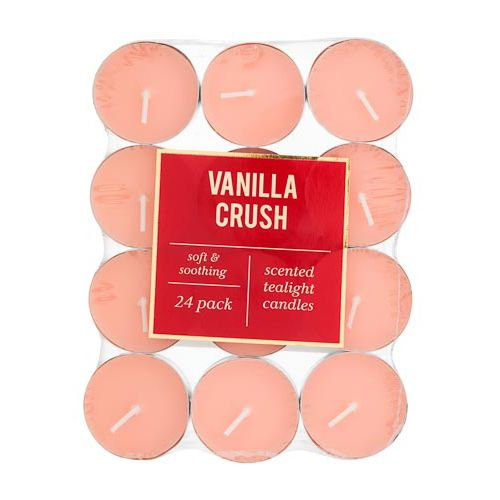 Scented Tea Lights Vanilla Crush 24 Pack