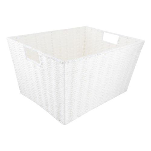 White Wicker Basket Large