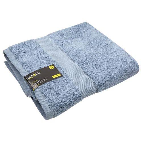 Bath Sheet Blue 460gsm 90x140cm