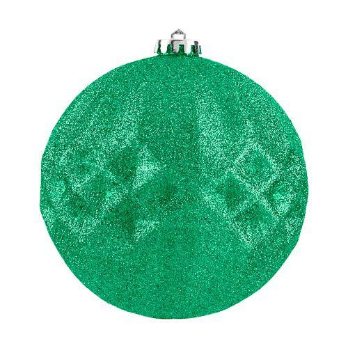 XL Green Glitter Bauble
