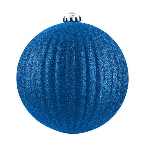 XL Glitter Blue Bauble