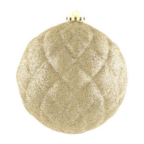 XL Glitter Gold Bauble