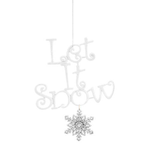 Single Let It Snow Tree Decoration