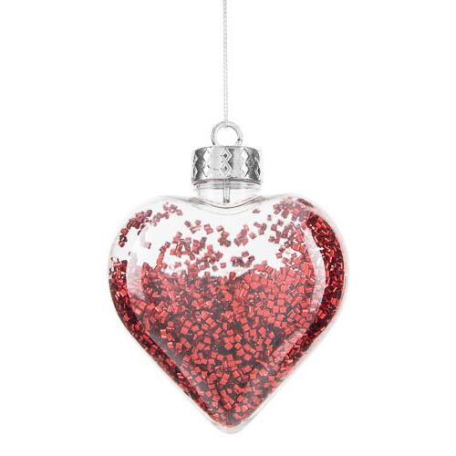 Confetti Heart & Tree Decoration
