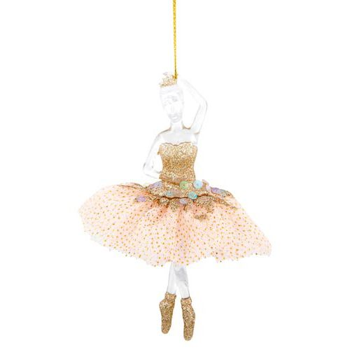 Single Ballet Dancer Tree Decoration