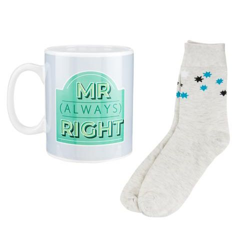 XL Mr (Always) Right Mug and Socks Set