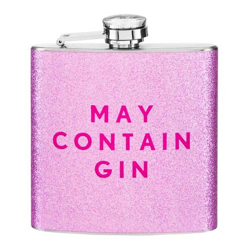 Pink Glitter Hip Flask
