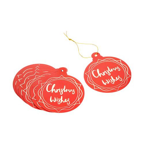 Luxury Christmas Wishes Tags 10 Pack