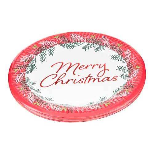 Christmas Paper Plates 16 Pack