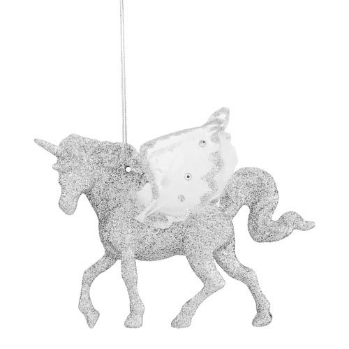 Single Glitter Unicorn Tree Decoration